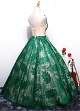Ball Gown Prom Dresses Lace Floor-length Hunter Green Chic Long Prom Dress JKL1126|Annapromdress