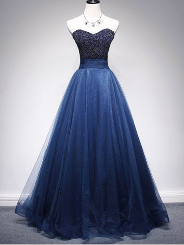 Beading Prom Dresses A Line Sweetheart Long Prom Dress Sexy Evening Dress JKL1128|Annapromdress