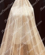 Sparkly Prom Dresses Spaghetti Straps A-line Gold Bling Long Sexy Prom Dress JKL1189|Annapromdress