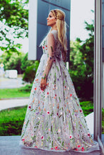 Beautiful Lace Prom Dresses A-line Sweep Train Fairy Prom Dress Long Evening Dress JKL1198|Annapromdress