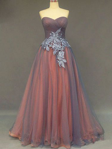 Chic Sweetheart Prom Dresses Sexy Appliques Long Prom Dress/Evening Dress JKL119