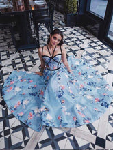 Beautiful Prom Dresses Spaghetti Straps Aline Floral Lace Long Prom Dress JKL1263|Annapromdress