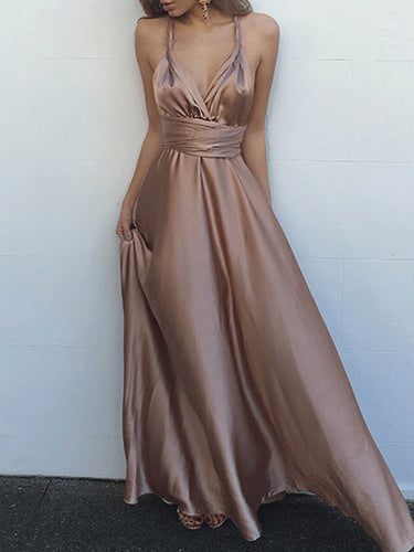 Cheap Prom Dresses Sexy Straps Floor-length Taffeta Prom Dress/Evening Dress JKL126
