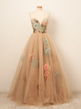 Beautiful Prom Dresses Scoop A-line Hand-Made Flower Long Chic Prom Dress JKL1278|Annapromdress