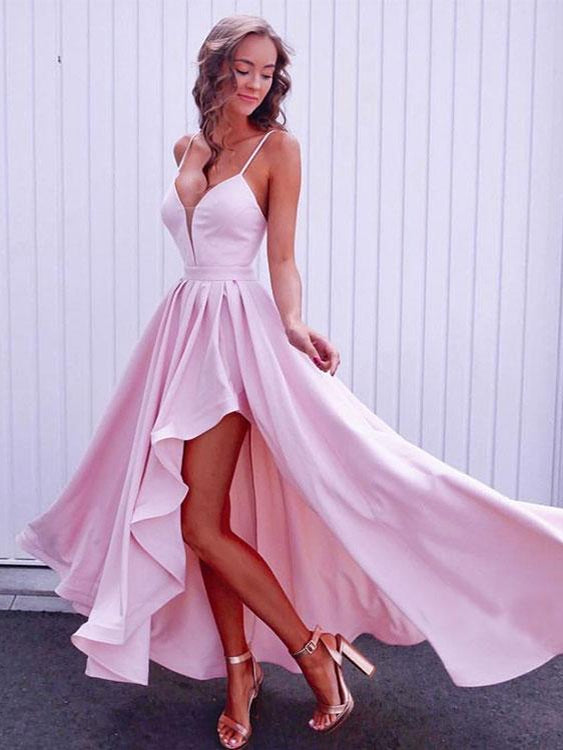 344123afdab High Low Prom Dresses with Spaghetti Straps Long Cheap Prom Dress Sexy  Evening Dress JKL1395