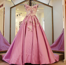 Beautiful Prom Dresses Scoop Sweep/Brush Train Lilac Appliques Prom Dress/Evening Dress JKL183
