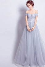 Beautiful Prom Dresses A-line Off-the-shoulder Long Chic Prom Dress/Evening Dress JKL198