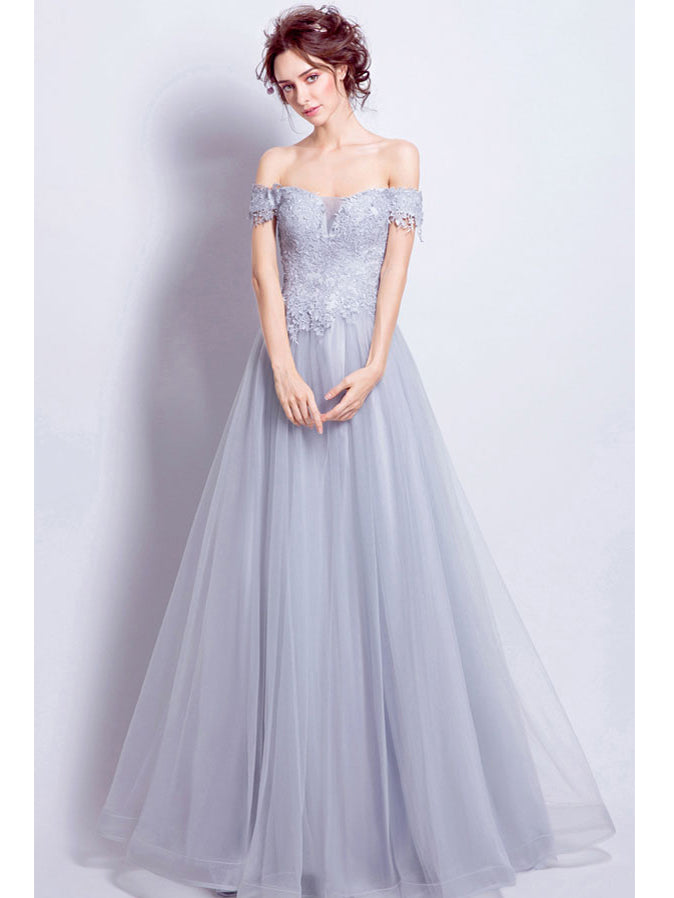 Beautiful Prom Dresses A-line Off-the-shoulder Long Chic Prom ...