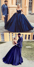 Ball Gown Prom Dresses Sweetheart Burgundy Dark Navy Long Chic Prom Dress/Evening Dress JKL201|Annapromdress