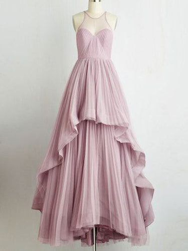 Long Prom Dress A-line Floor-length Ruffles Prom Dress/Evening Dress JKL209