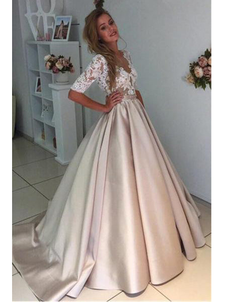 Short Satin Prom Dress