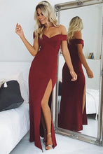 Long Prom Dress Sheath/Column Floor-length Burgundy Prom Dress/Evening Dress JKL228|Annapromdress