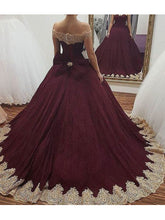 Beautiful Prom Dress Off-the-shoulder Sweep/Brush Train Sexy Prom Dress/Evening Dress JKL235