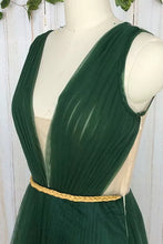 Cheap Green Prom Dresses V-neck Floor-length Ruffles Sexy Prom Dress/Evening Dress JKL245