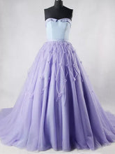 Ball Gown Prom Dresses Sweetheart Sweep/Brush Train Hand-Made Flower Prom Dress/Evening Dress JKL250