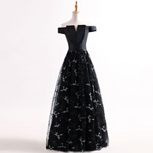 Black Prom Dresses Sexy Off-the-shoulder Tulle Long Prom Dress/Evening Dress JKL264