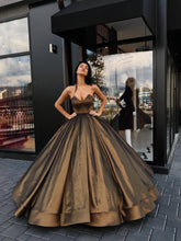 Ball Gown Prom Dresses Sweetheart Floor-length Brown Long Prom Dress/Evening Dress JKL328