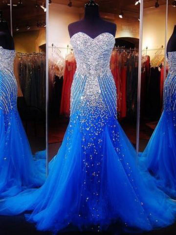 Luxury Prom Dresses Sweetheart Sequins Sheath/Column Sexy Prom Dress/Evening Dress JKL350