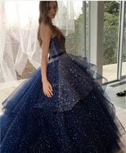 Luxury Prom Dresses Sweetheart Sweep/Brush Train Sequins Sexy Prom Dress/Evening Dress JKL355