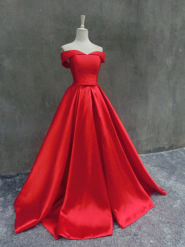 Chic Prom Dresses Ball Gown Off-the-shoulder Sexy Cheap Prom Dress/Evening Dress JKL357