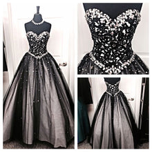 Black Prom Dresses Sweetheart Floor-length Lace Sexy Prom Dress/Evening Dress JKL361
