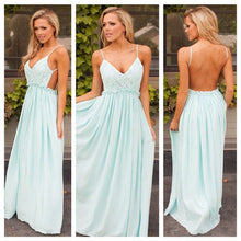 Backless Prom Dresses Spaghetti Straps Floor-length Sexy Prom Dress/Evening Dress JKL370