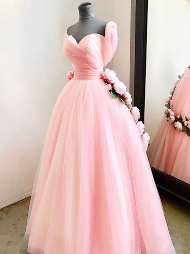 Chic Prom Dresses Sweetheart Ball Gown Floor-length Pink Prom Dress/Evening Dress JKL385