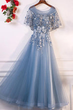 Chic Prom Dresses A-line Floor-length Appliques Prom Dress/Evening Dress JKL393
