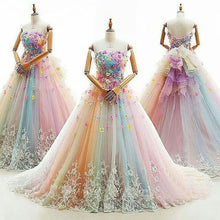 Ball Gown Prom Dresses Colorful Sweep/Brush Train Beautiful Prom Dress/Evening Dress JKL406