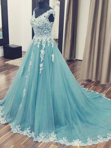 Beautiful Prom Dresses Ball Gown Sweep/Brush Train Sexy Prom Dress/Evening Dress JKL407