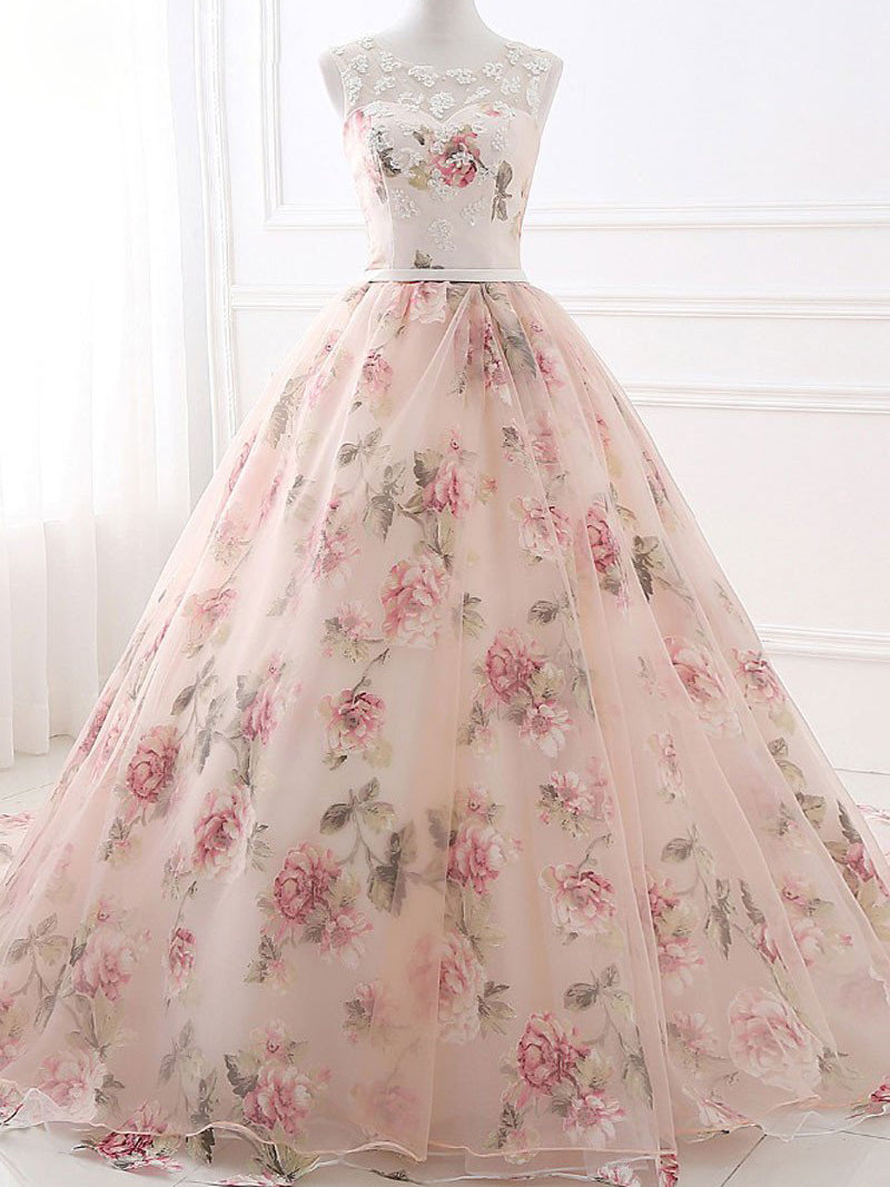 Beautiful Prom Dresses Ball Gown Pearl Pink Chic Prom Dress/Evening ...