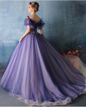 Ball Gown Prom Dresses Beading Hand-Made Flower Sexy Prom Dress/Evening Dress JKL411
