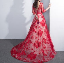 Beautiful Prom Dresses Off-the-shoulder Floor-length Sexy Prom Dress/Evening Dress JKL414