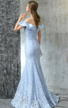 Lace Prom Dresses Off-the-shoulder Trumpet/Mermaid Sexy Prom Dress/Evening Dress JKL422