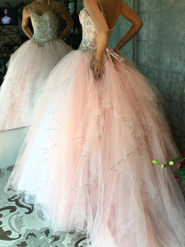 Ball Gown Prom Dresses Spaghetti Straps Rhinestone Chic Prom Dress/Evening Dress JKL441