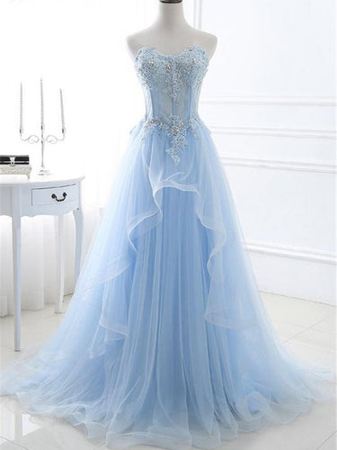 Chic Prom Dresses Sweetheart A-line Floor-length Sexy Prom Dress/Evening Dress JKL443|Annapromdress