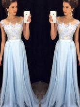 Cheap Prom Dresses A-line Floor-length Appliques Sexy Prom Dress/Evening Dress JKL446