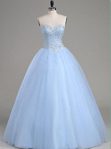 Ball Gown Prom Dresses Sweetheart Floor-length Long Prom Dress Sequins Evening Dress JKL472