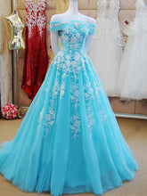 Beautiful Prom Dresses Off-the-shoulder Sweep/Brush Train Prom Dress Sexy Evening Dress JKL491