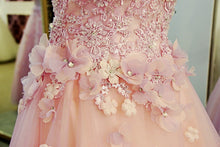 Beautiful Prom Dresses Sweetheart Tulle Hand-Made Flower Long Prom Dress JKL510