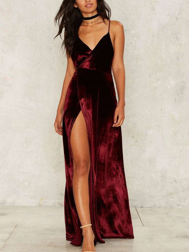 Cheap Prom Dresses Spaghetti Straps Floor-length Sexy Long Burgundy Prom Dress JKL525