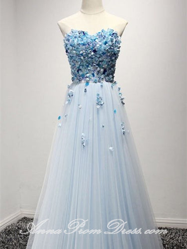 Beautiful Prom Dresses A Line Floor-length Sweetheart Long Prom Dress JKL594