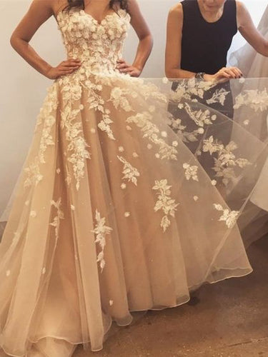 Cute Prom Dresses A-line Sweetheart Floor-length Beautiful Long Prom Dress JKL662