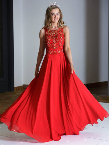 Beautiful Prom Dresses A-line Floor-length Flowly Long Sexy Prom Dress JKL686
