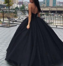Black Prom Dresses Ball Gown Sweetheart Floor-length Sexy Prom Dress Long Evening Dress JKL722