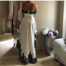 High Low Prom Dresses A-line Off-the-shoulder Scoop Sexy Prom Dress Long Evening Dress JKL724