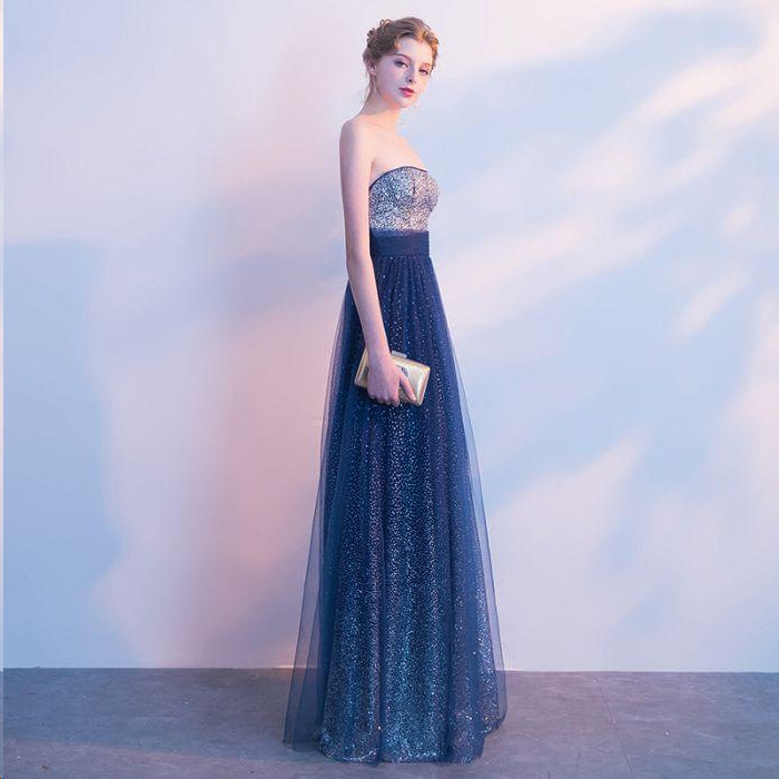 Beautiful Prom Dresses Strapless A Line Sexy Ombre Prom Dress Long