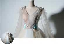 Ball Gown Prom Dresses V-neck Appliques Fairy Dress Long Prom Dress JKL822|Annapromdress