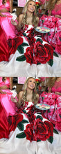 Beautiful Prom Dresses Aline Strapless Rose Floral Print Long Prom Dress JKL854|Annapromdress