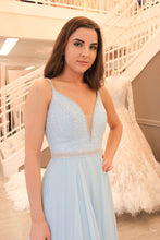 Beautiful Prom Dresses A-line Spaghetti Straps Beading Long Prom Dress JKL949|Annapromdress